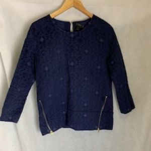 J Crew Size 4 Top with zippers